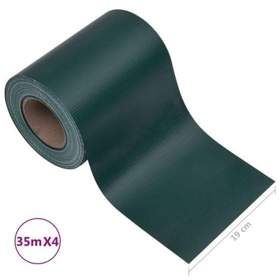 shumee Záhradné tieniace fólie 4 ks, PVC 35x0,19 m, matné zelené