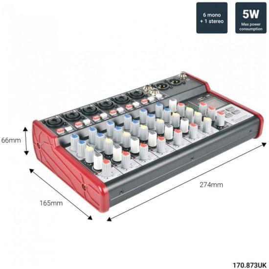 Citronic CSM-8 Mixážny pult s USB a Bluetooth