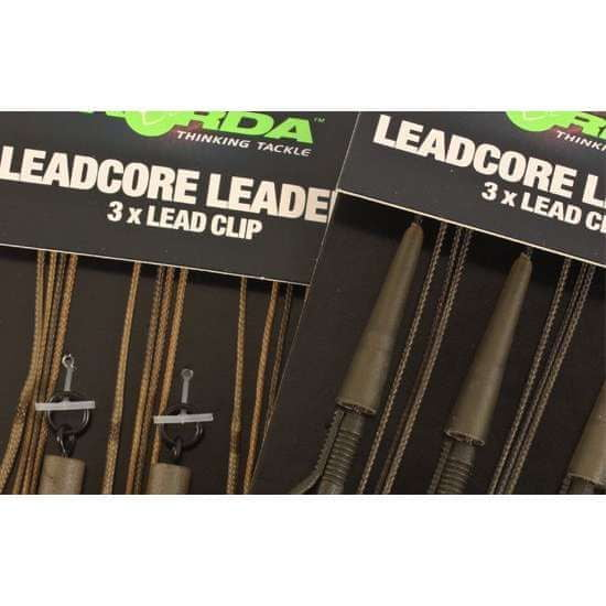 Korda Montáže Leadcore Leader Hybrid Lead Clip Gravel Brown 3ks