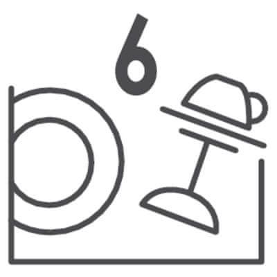 Stolní myčka nádobí Candy CDCP 6S Velká kapacita