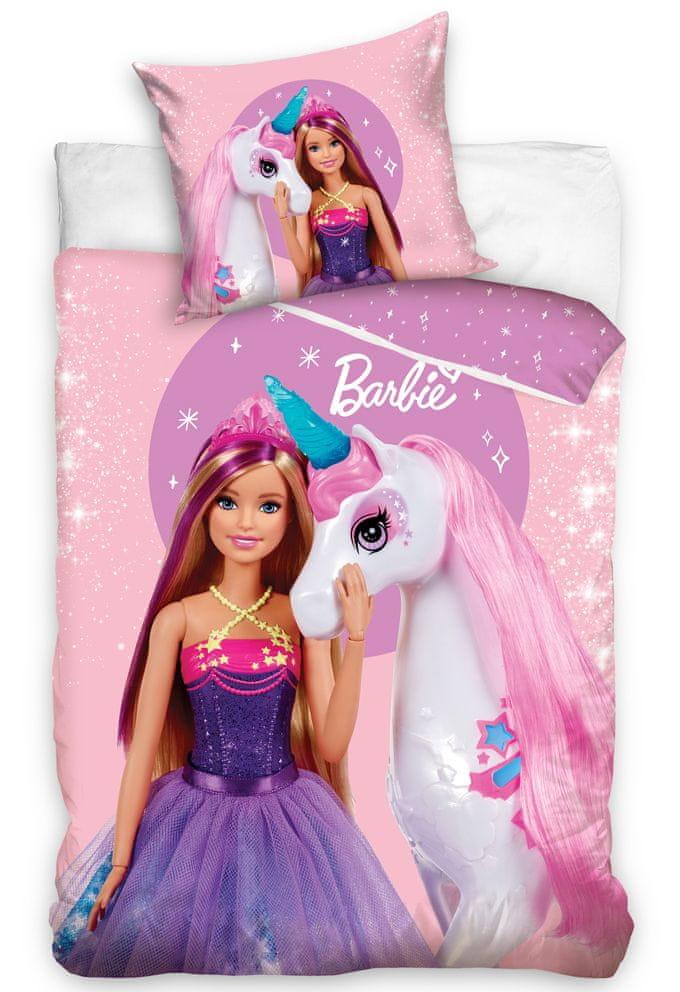 Carbotex Dětské povlečení Barbie a Kouzelný Jednorožec