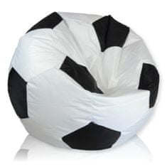PrimaBag Sedací vak Fotbalový míč střední nylon černá