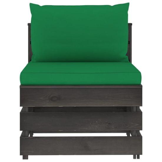 shumee 5 ks. drevený záhradný sedací set s vankúšmi