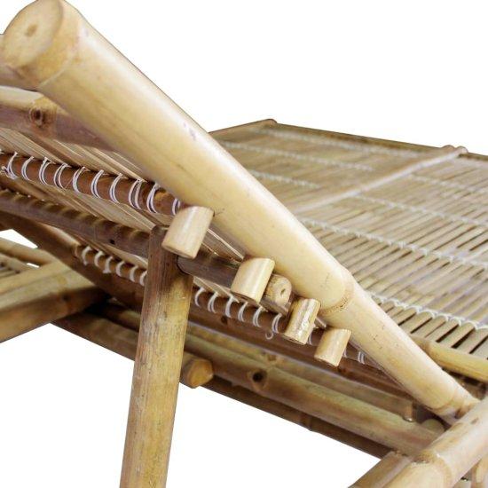 shumee kétszemélyes bambusz napozóágy párnákkal