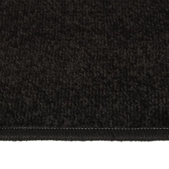 shumee Koberce do spálne chlpaté s dlhým vlasom 3 ks čierne
