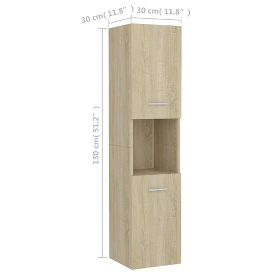 shumee Kopalniška omarica sonoma hrast 30x30x130 cm iverna plošča