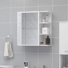 Greatstore Zrcadlová skříňka bílá vysoký lesk 62,5x20,5x64 cm dřevotříska