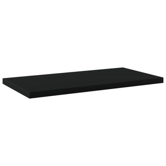 shumee Półki na książki, 4 szt., czarne, 40x20x1,5 cm, płyta wiórowa