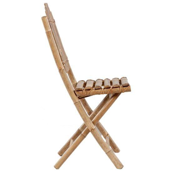 shumee 5-cz. zestaw składanych mebli ogrodowych z poduszkami, bambus