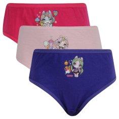 E plus M 3PACK dievčenské nohavičky Poopsie viacfarebné (DP-A) - veľkosť 122