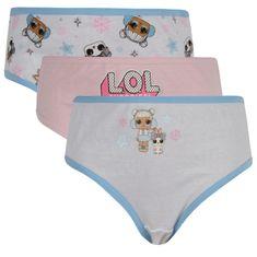 E plus M 3PACK dievčenské nohavičky Lol Suprise viacfarebné (LOL-099) - veľkosť 98