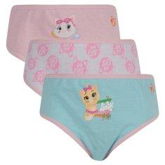 E plus M 3PACK dievčenské nohavičky 44 Cats viacfarebné (44-CATS) - veľkosť 98