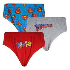 E plus M 3PACK chlapčenské slipy Superman viacfarebné (SUP-A) - veľkosť 116