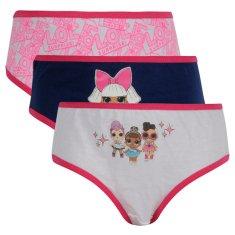 E plus M 3PACK dievčenské nohavičky Lol Surprise viacfarebné (LOL-144) - veľkosť 98