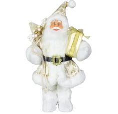 Dům Vánoc Santa ve zlatém kabátku 30 cm