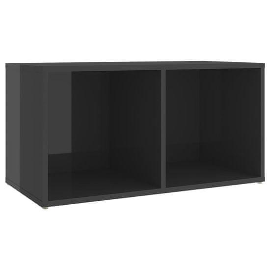 shumee 3-dielne. sada televíznych skriniek, vysoký lesk, sivá, drevotrieska