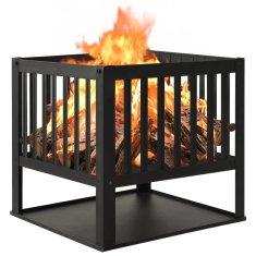 shumee Fire Pit 40x40x40 cm Jeklo