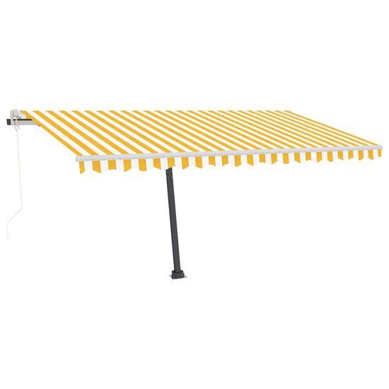 shumee voľne stojaca automatická markíza 450x350 cm žltá / biela