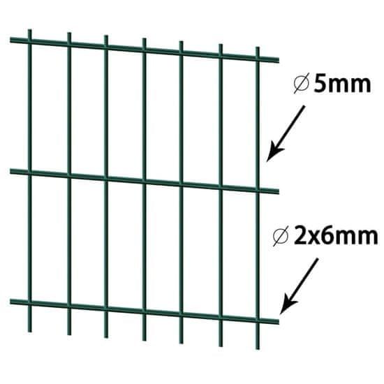 shumee 2D Plotové panely 2,008 x 1,63 m 16 m Zelená