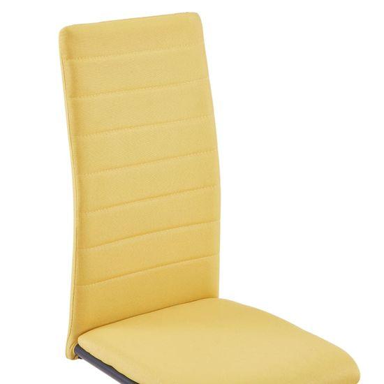Greatstore Nihajni jedilni stoli 4 kosi rumeno blago