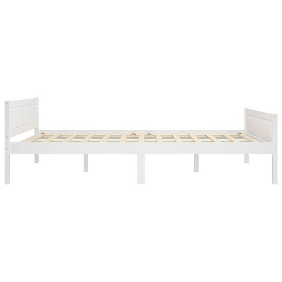 shumee Rama łóżka z litego drewna sosnowego, biała, 120 x 200 cm