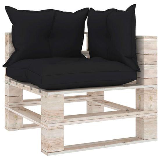 shumee 8-cz. zestaw mebli ogrodowych z palet, z poduszkami, sosna