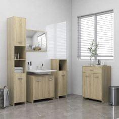 4dílný set koupelnového nábytku dub sonoma