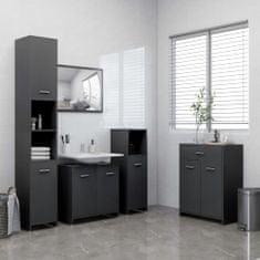 4dílný set koupelnového nábytku šedý