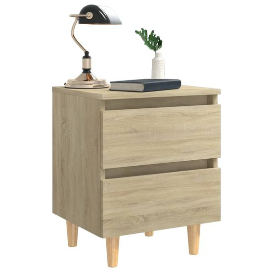 shumee 2 nočné stolíky borovicové nohy dub sonoma 40x35x50 cm