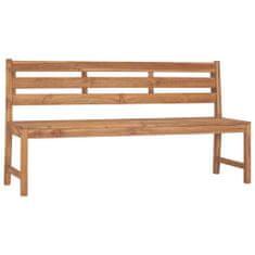 Zahradní lavice 170 cm masivní teakové dřevo