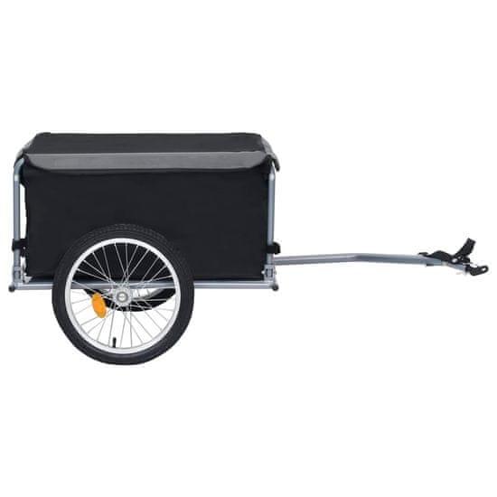 shumee Transportowa przyczepa rowerowa, czarno-szara, 65 kg