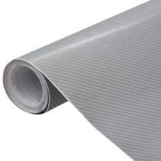 shumee Fólie na auto 4D matná stříbrná 200 x 152 cm