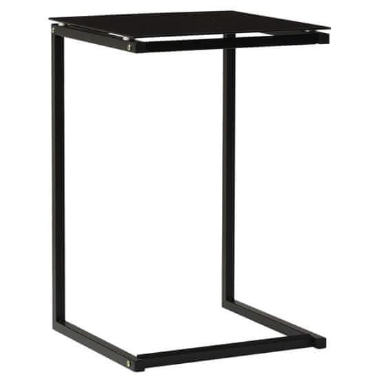 shumee Odkladací stolík čierne 40x40x60 cm tvrdené sklo
