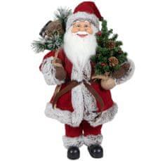 Dům Vánoc Santa se stromečkem a dárky 45 cm