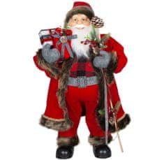 Dům Vánoc Santa v dlouhém kabátku s dárky 80 cm