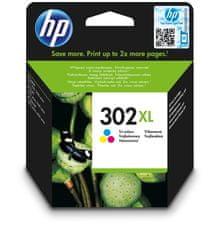 HP náplň č.302XL - barevná (F6U67AE)
