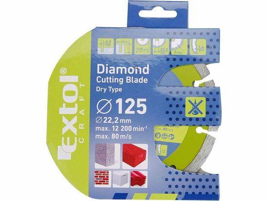 Extol Craft Kotúč rezný diamantový plný, 230mm, mokré rezanie