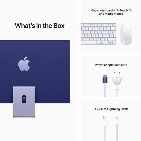 "Apple iMac 24"" 4,5K Retina M1 /8GB/512GB/8-core GPU, fialová"
