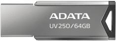 A-Data UV250 - 64GB, strieborná (AUV250-64G-RBK)