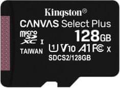 Kingston Micro SDXC Canvas salect Plus 100R 128GB 100MB/s UHS-I (SDCS2/128GBSP)