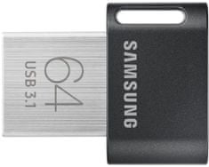 SAMSUNG Fit Plus 64GB, šedá, (MUF-64AB/APC)