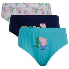 E plus M 3PACK chlapčenské slipy Peppa Pig viacfarebné (PIG-821) - veľkosť 92