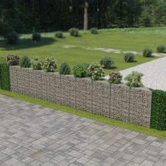 shumee Gabionová zeď z pozinkované oceli 630 x 30 x 100 cm