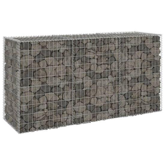 shumee Gabionska stena s pokrovi iz pocinkanega jekla 200x60x100 cm