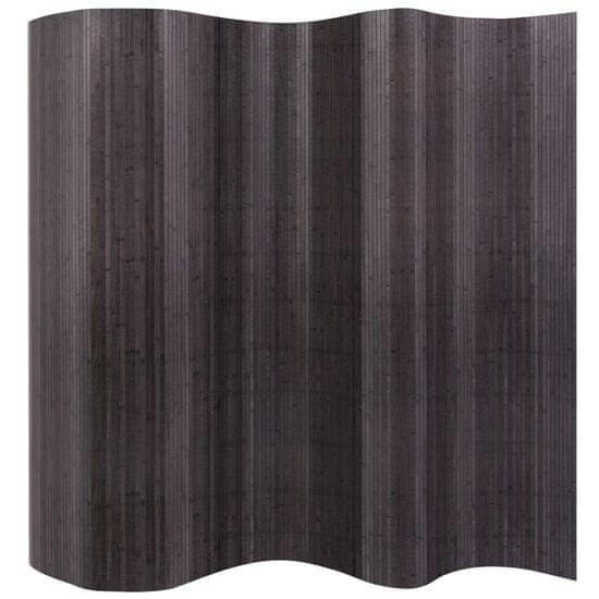 Greatstore Paravan iz bambusa sive barve 250x165 cm