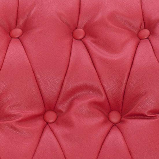 shumee piros műbőr állítható masszázsfotel