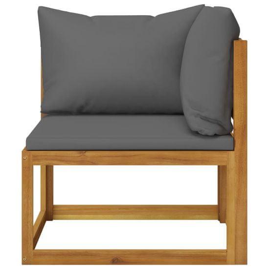 Greatstore 12-dielna záhradná sedacia súprava s podložkami akáciový masív