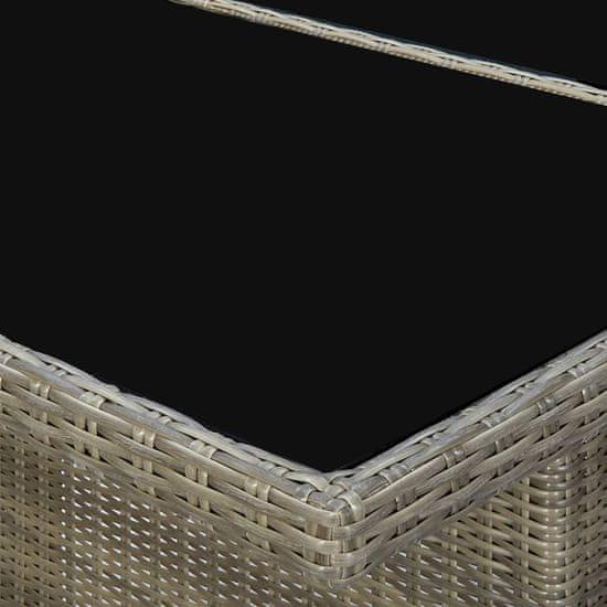 shumee 7 részes barna kültéri polyrattan étkezőgarnitúra párnákkal
