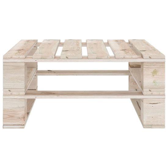 Greatstore 6-dielna záhradná súprava z paliet+podložky, borovicové drevo