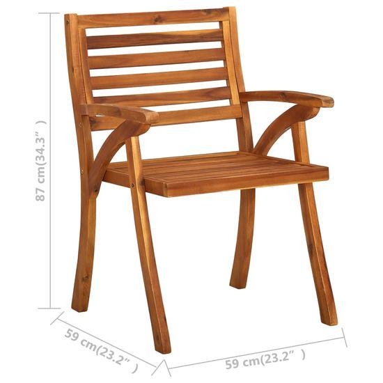 Greatstore Záhradné stoličky 2 ks akáciový masív
